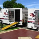 Adelaide Star Removals Trucks ready with ramp to load furniture